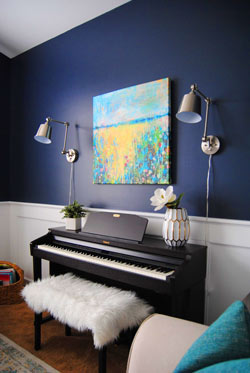 digital piano home interior