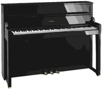 upright digital piano