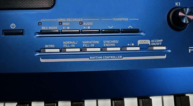 Casio PX-560 controls
