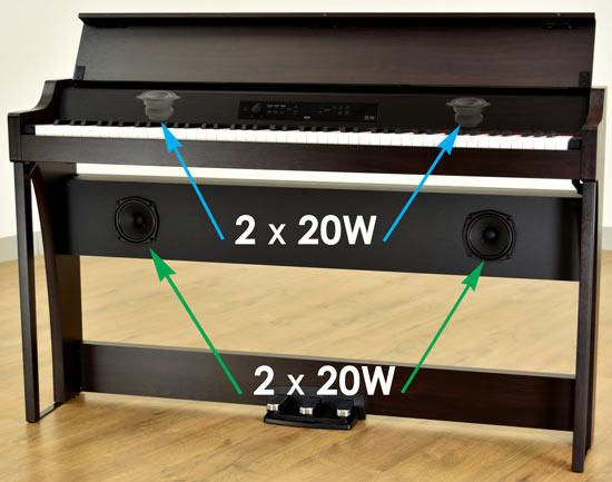 Korg G1 Air speakers