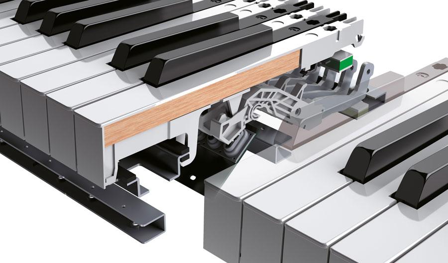 Roland PHA-50 key action