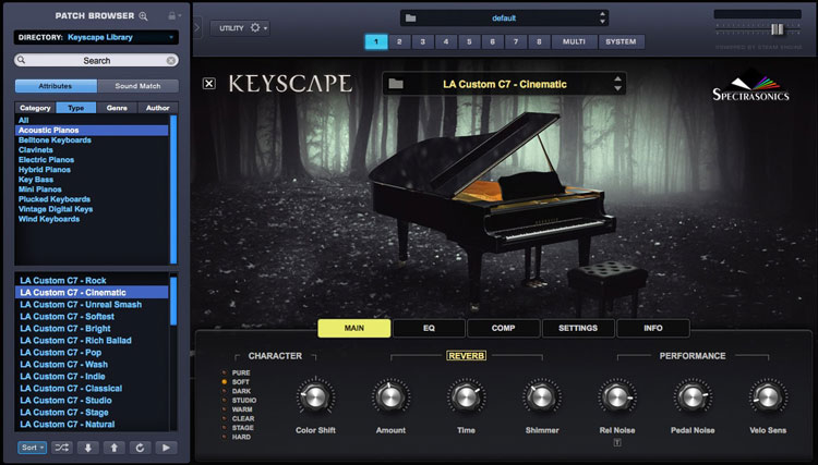 spectrasonics keyscape sample library