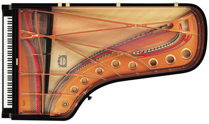 Yamaha CFX concert grand piano