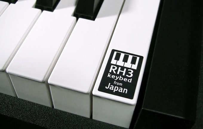 Korg RH3 keyboard action