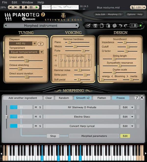 Pianoteq 7 Standard parameters