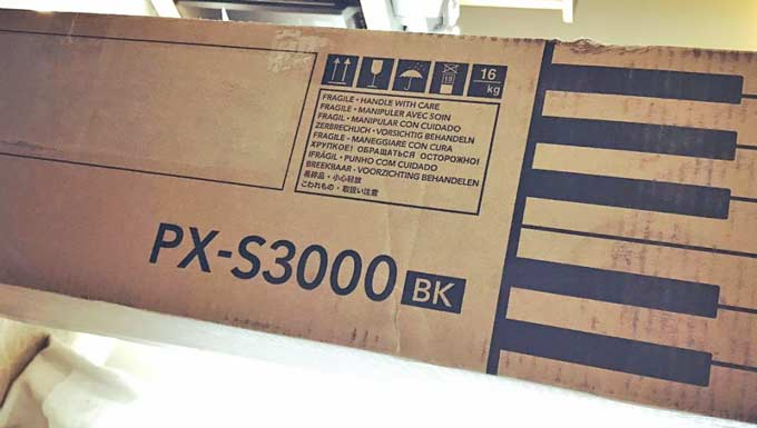 Casio PX-S3000 box unboxing