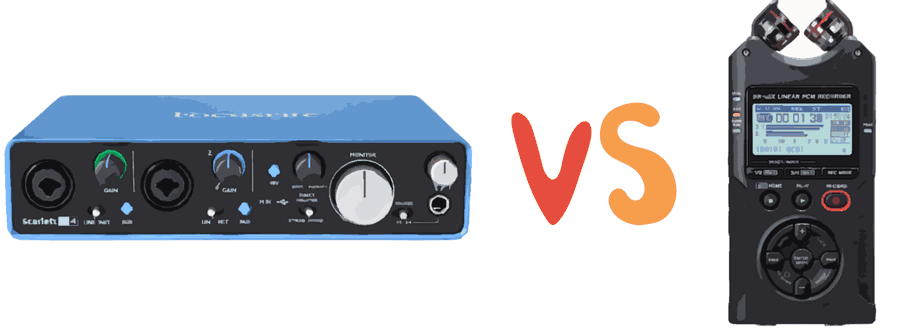 Audio Interface vs Digital Recorder difference