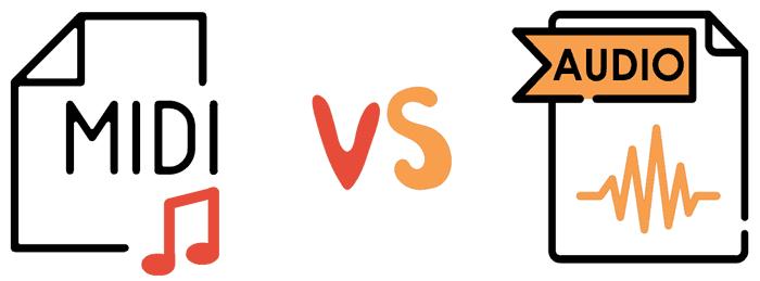Audio vs MIDI difference