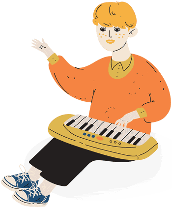 boy playing the keyboard
