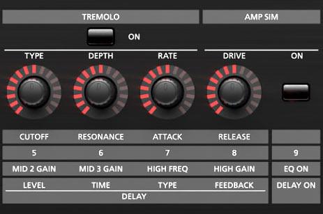 Roland RD-2000 tremolo amp sim