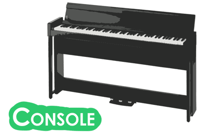 console digital pianos