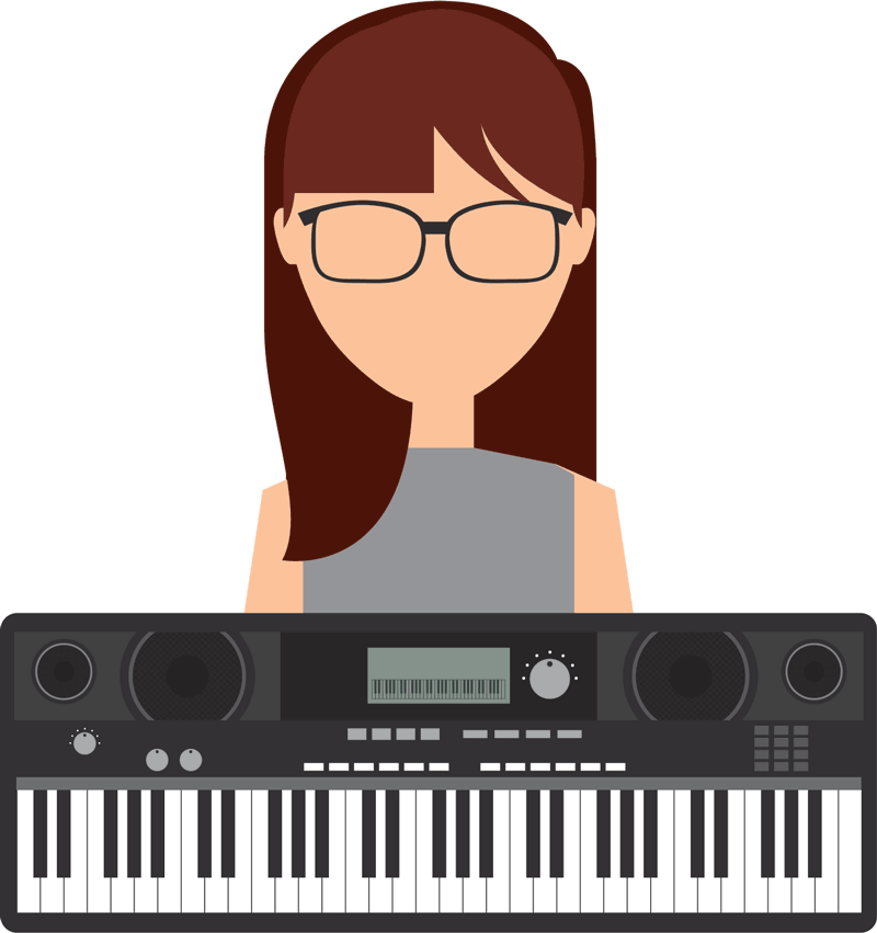 girl with a keyboard