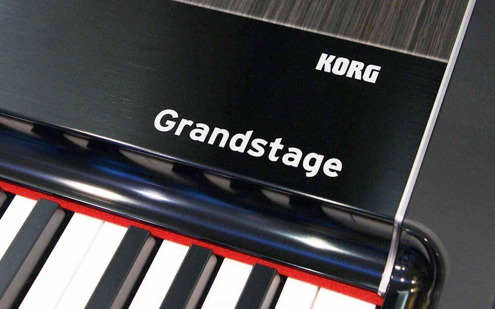 Korg Grandstage front logo