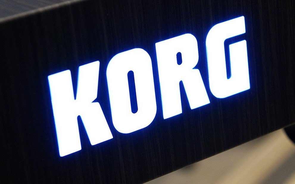 Korg Grandstage backlit logo