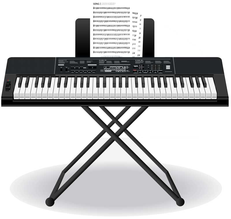 portable arranger keyboard