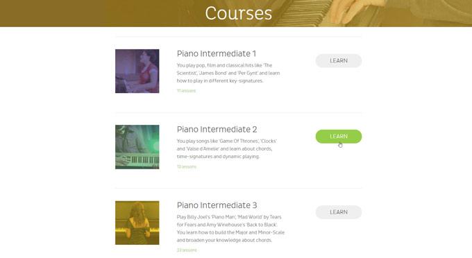Skoove intermediate courses