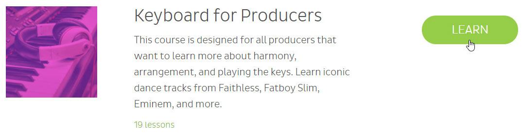 Skoove keyboard for producers