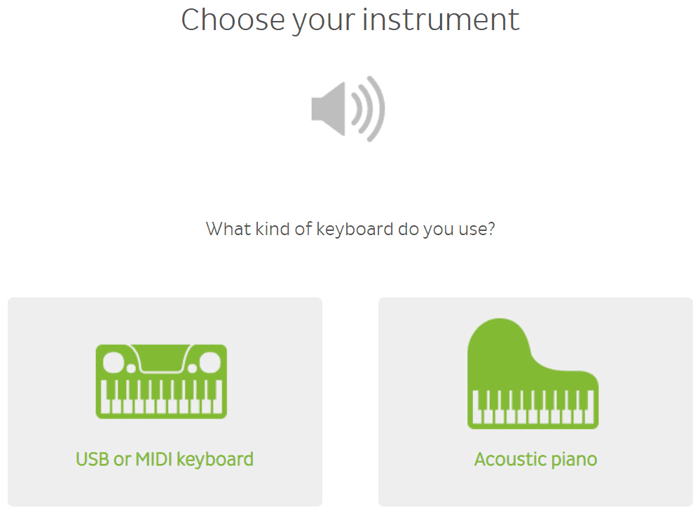 Skoove keyboard setup