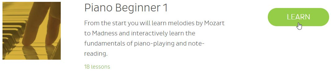 Skoove piano beginner lessons