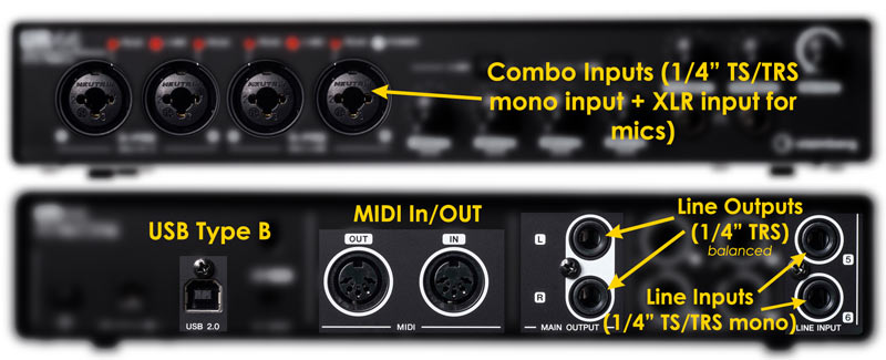 Audio Interface outputs inputs explained