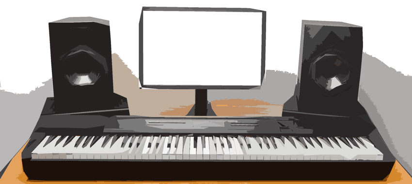 MIDI keyboard studio