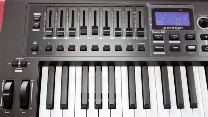 Novation Impulse front controls