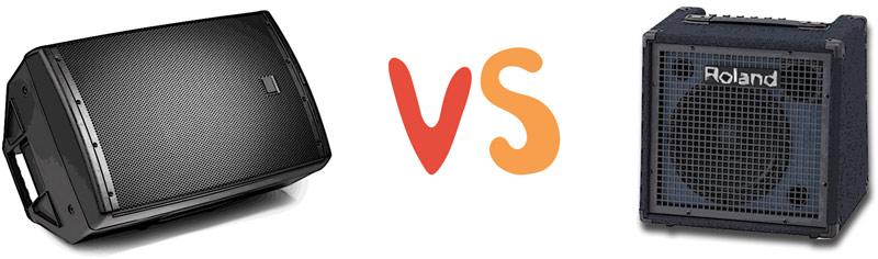 PA speaker vs keyboard amp