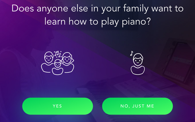 Simply Piano family account