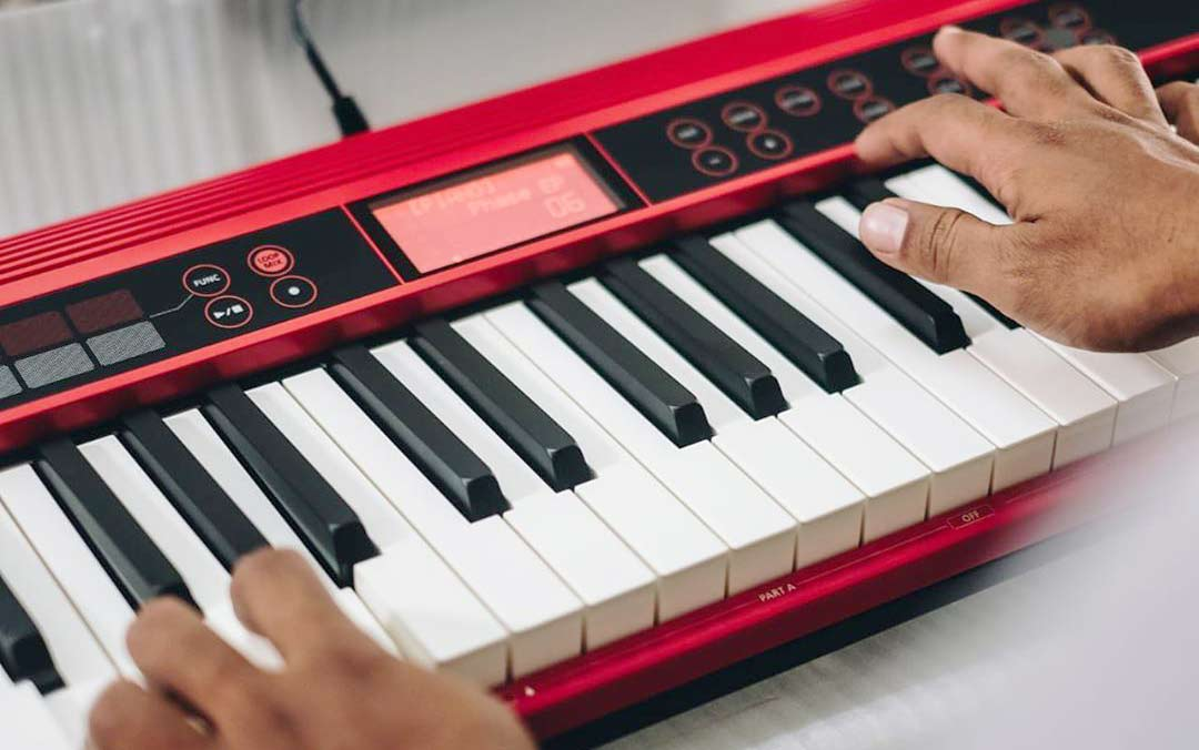 Roland GO:Keys performing gig