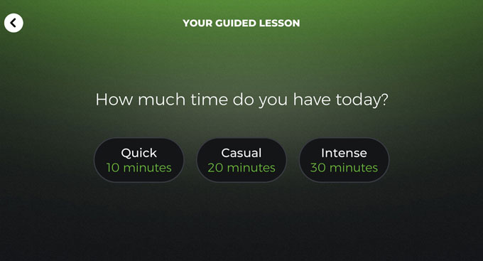 Yousician guided lessons