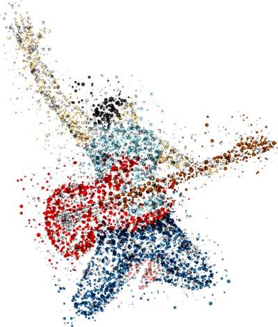 Jumping Guitarist