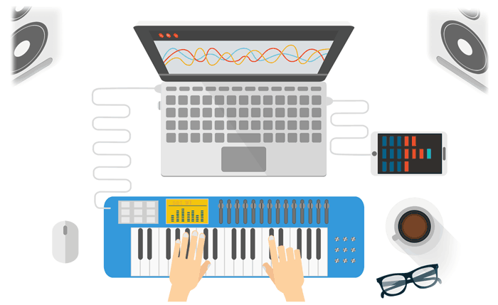 DAW MIDI Keyboard