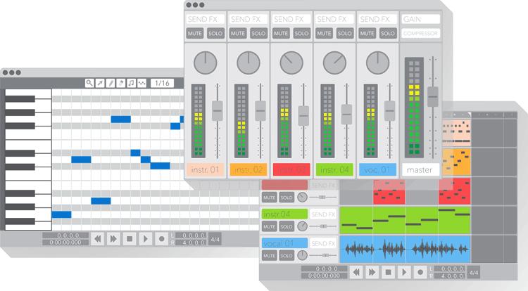 DAW Interface illustration