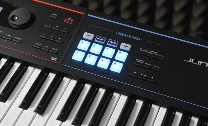 Roland JUNO-DS61 phrase pads