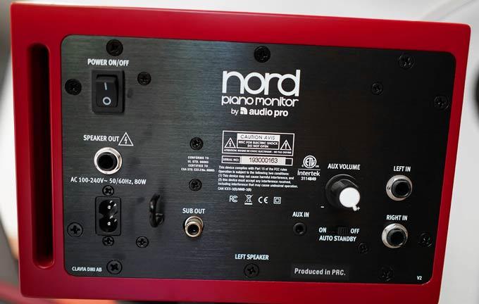 Nord Piano Monitors Back