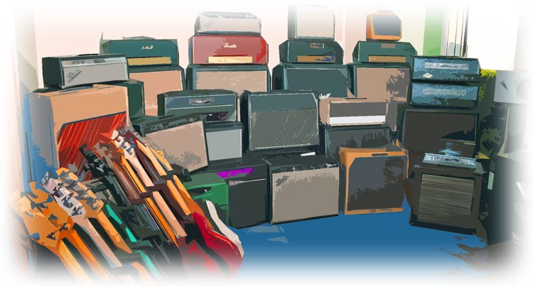Variety of Guitar Amps