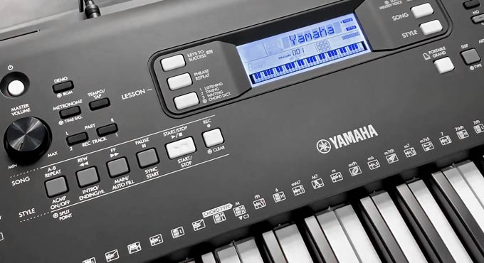 Yamaha PSR-E373 PSR-EW310 Front Display