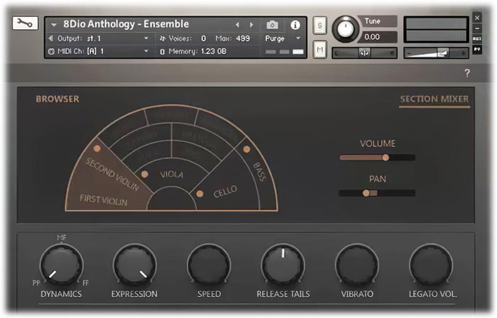 8Dio Anthology Strings Section Mixer
