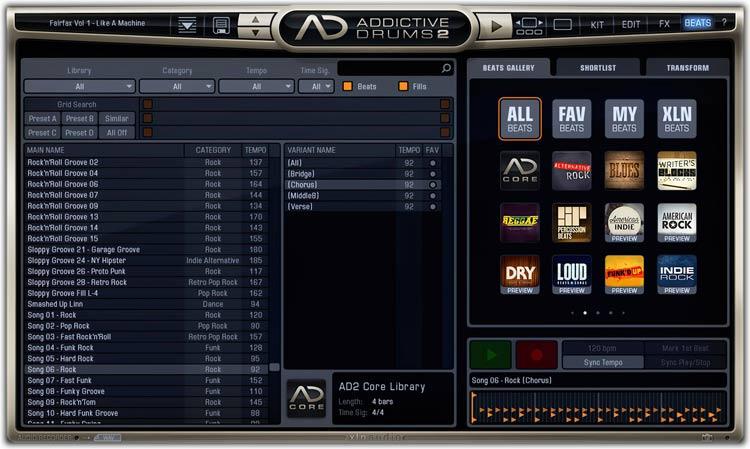 XLN Addictive Drums 2 Beats tab