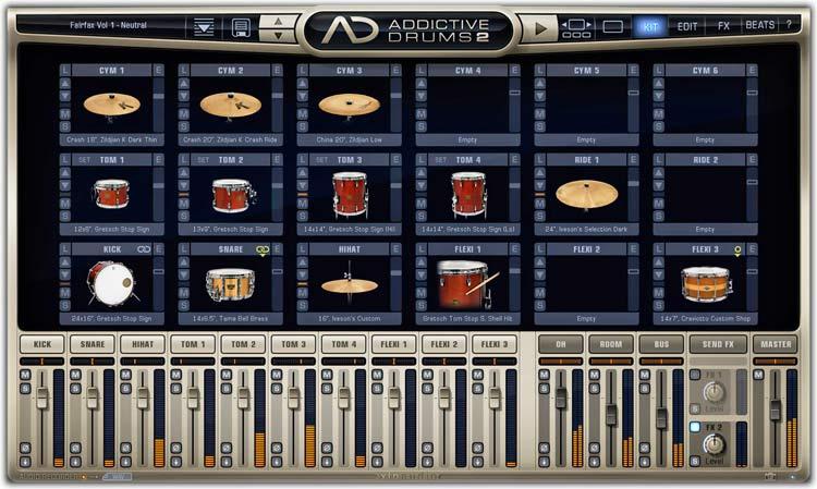 XLN Addictive Drums 2 Kit tab