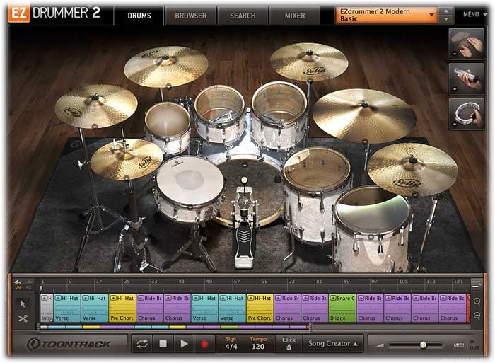 Toontrack EZdrummer 2 Drums tab